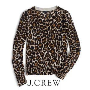 J. Crew NWT Jackie leopard cardigan